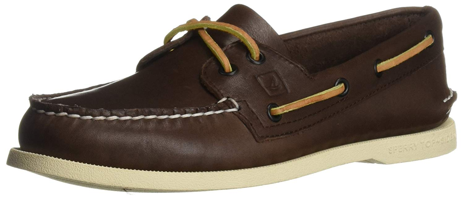 Sperry Mens Authentic Original Leather Boat Shoe - Classic Brown - Size 9.5