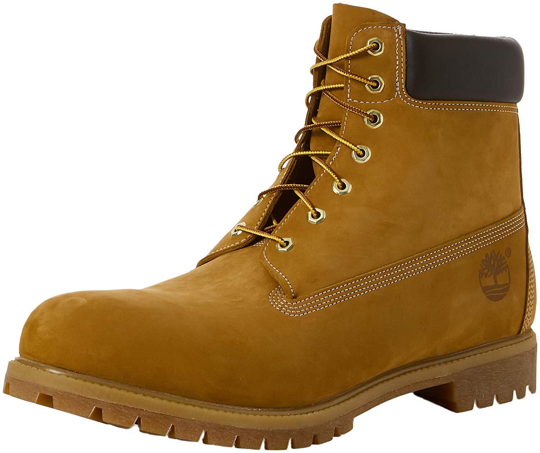 Timberland Mens Classic Premium Boot -  Wheat Nubuck -  12 W US
