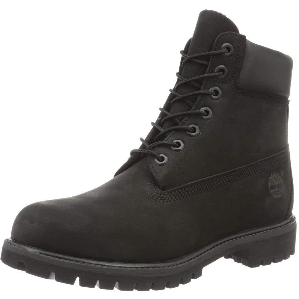 Timberland Mens Classic Premium Boot -  Black Nubuck -  8 W US