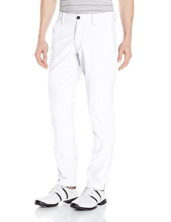 Under Armour Mens Match Play Golf Pants  Tapered Leg - 32/32 - White