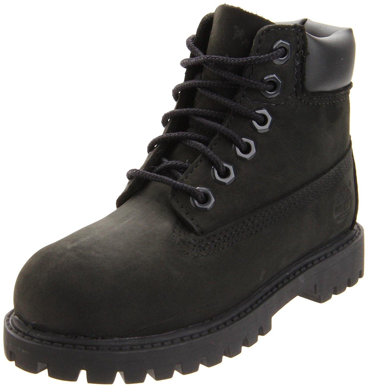 Timberland 6-Inch Premium Waterproof Boot - Toddler/Little Kid/Big Kid - Black Nubuck - 4.5 M Big Kid - 12907-BLACK-NUBUCK-K4.5