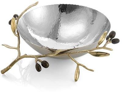 Michael Aram Olive Branch Gold Serving Bowl Medium - 175133