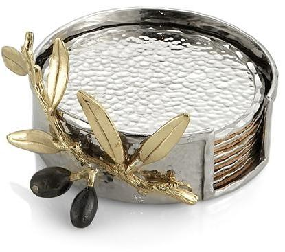 Michael Aram Olive Branch Gold Coaster Set - 175138