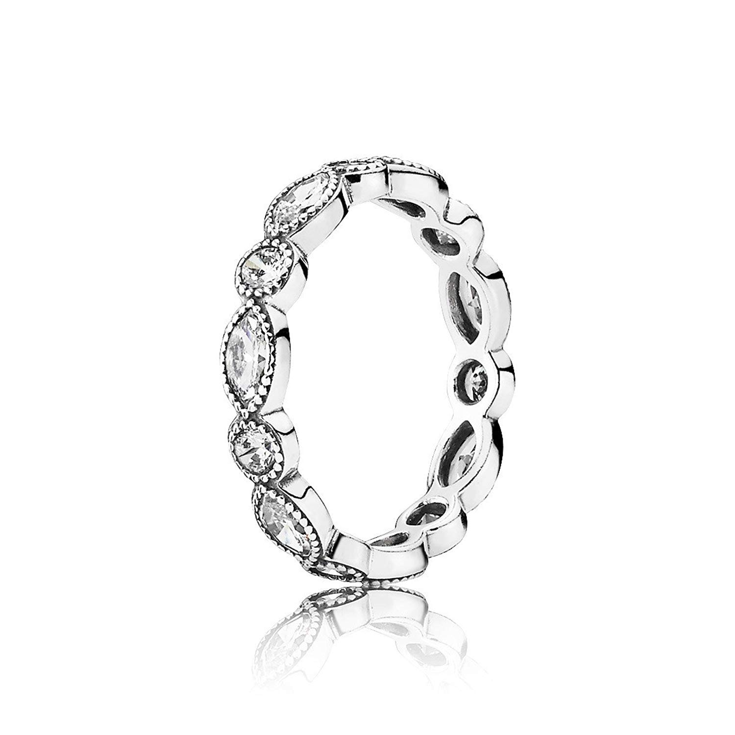 PANDORA Alluring Brilliant Marquise Stackable Ring - CZ - 190940CZ-52