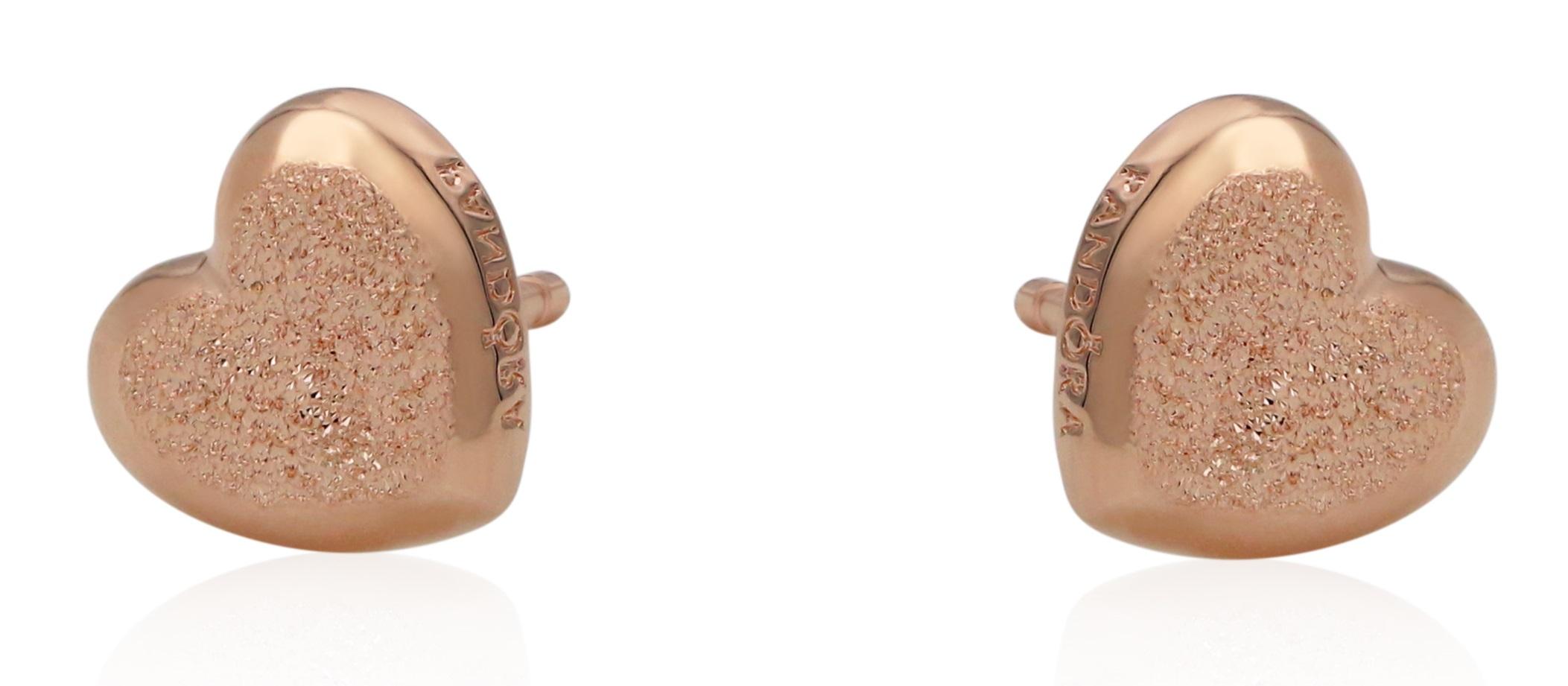 PANDORA Matte Brilliance Hearts Earrings