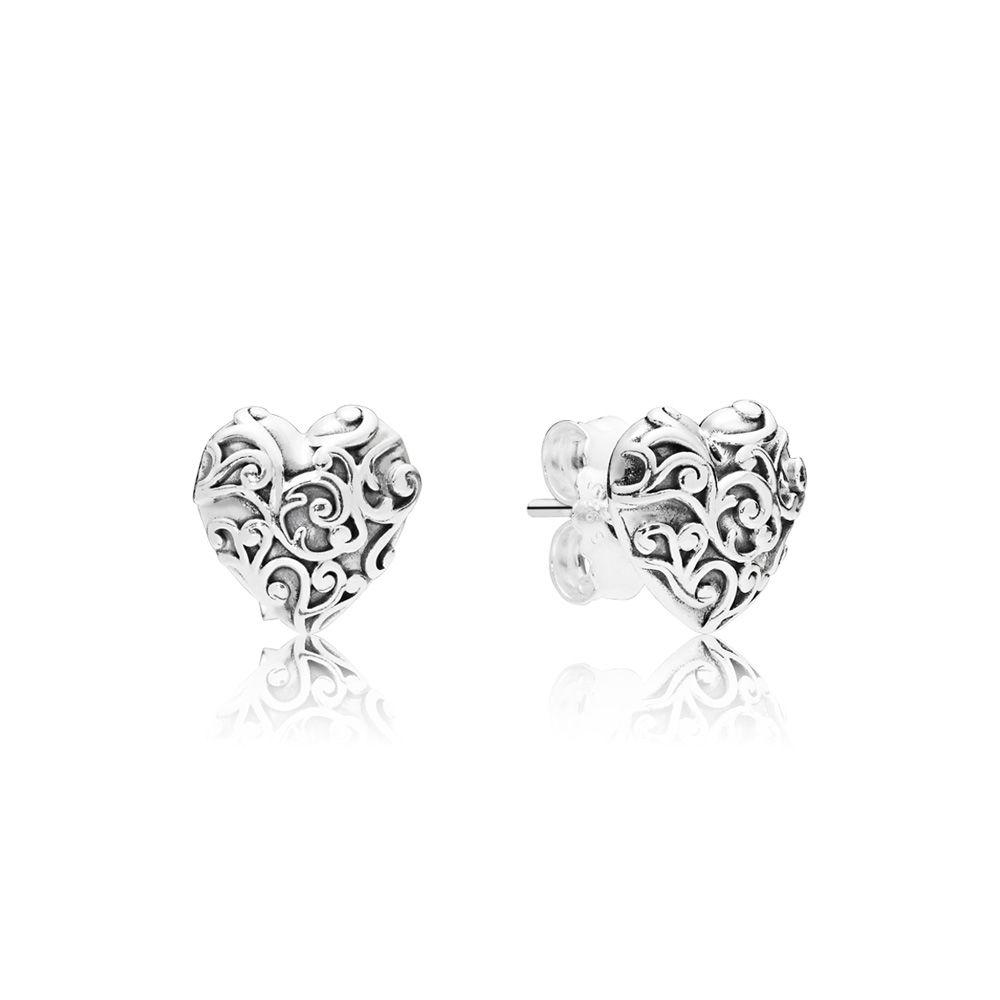 PANDORA Regal Hearts Earrings - 297693