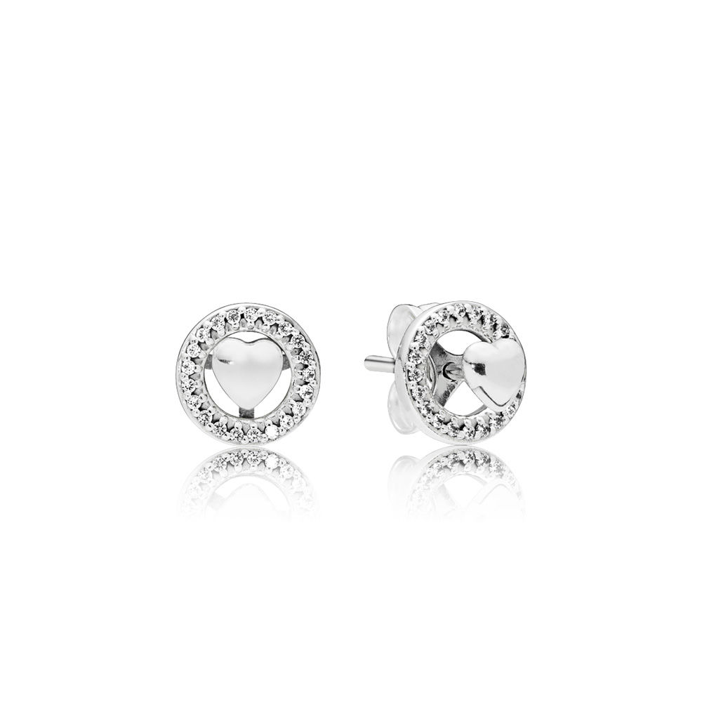 PANDORA Forever PANDORA Hearts Earrings - 297709CZ
