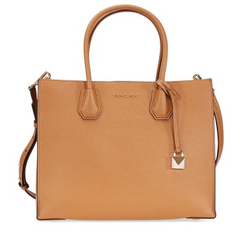 Michael Kors Mercer Large Leather - Tote - Acorn - 30F6GM9T3L-532