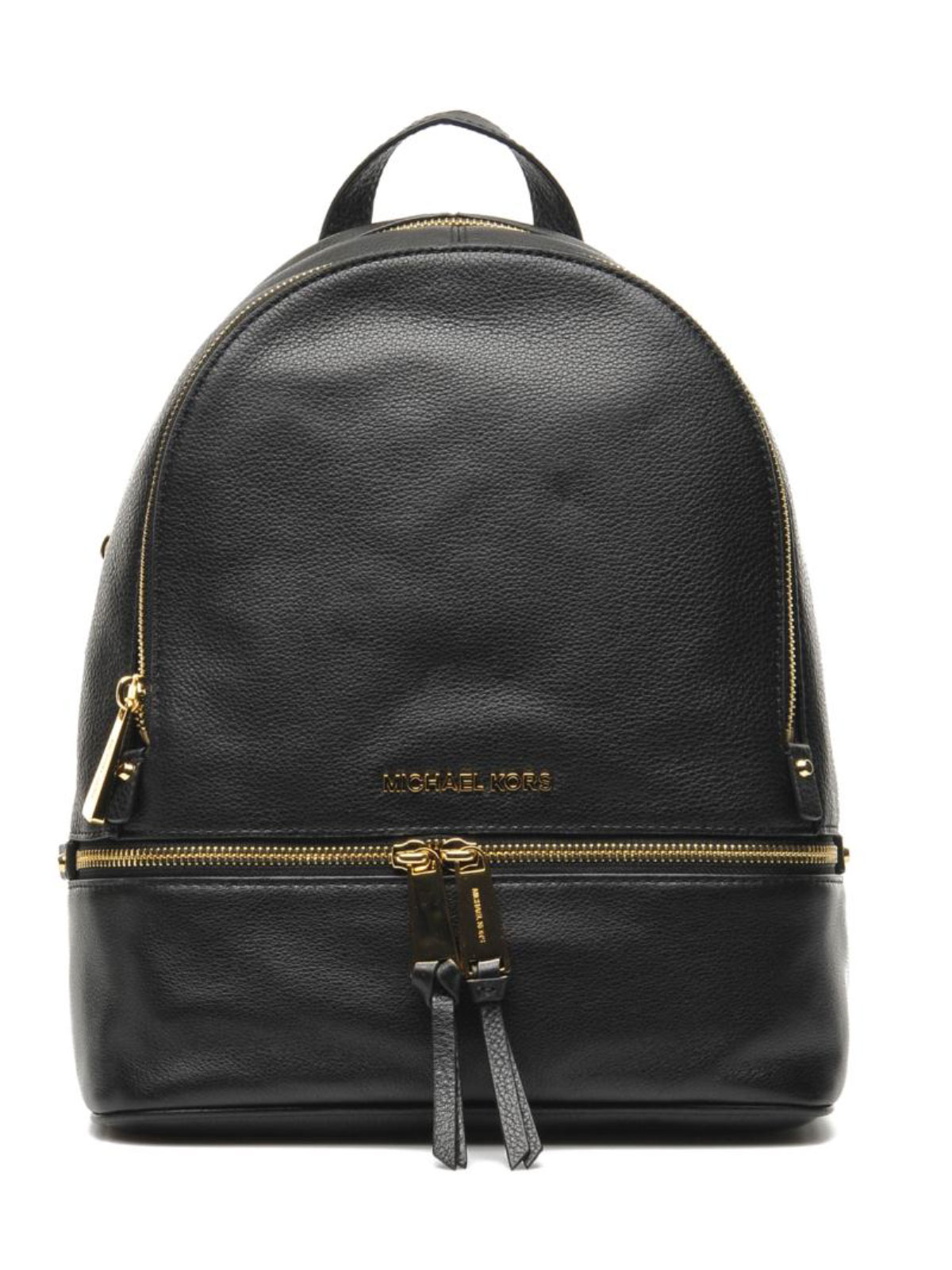 Michael Kors Rhea Medium Leather Backpack - Black - 30S5SEZB1L-001