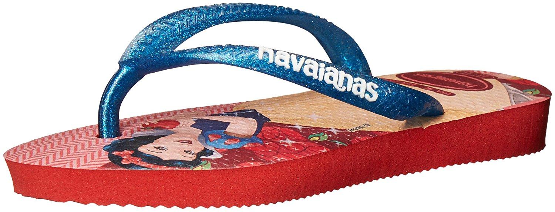 Havaianas Girls Kids Slim Princess Sandal Flip Flop - Red - 23/24 BR