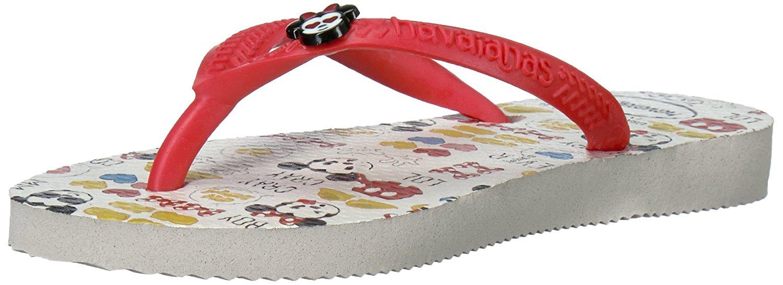 Havaianas Girls Kids Slim Disney Cool Sandal Flip Flop - White/Ruby Red - 25/26 BR