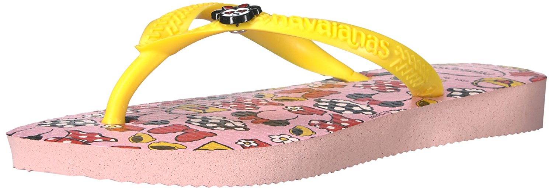 Havaianas Girls Kids Slim Disney Cool Sandal Flip Flop - Pearl Pink - 25/26 BR