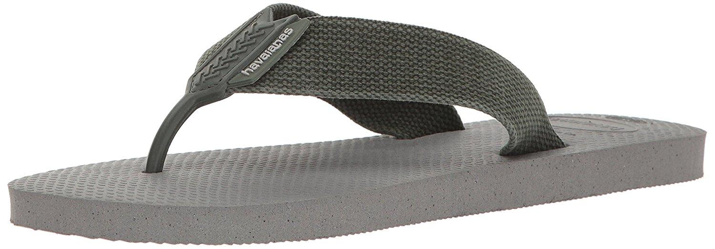 Havaianas Mens Urban Basic Sandal Flip Flop - Steel Grey - 39 BR - 4132002-9444-8
