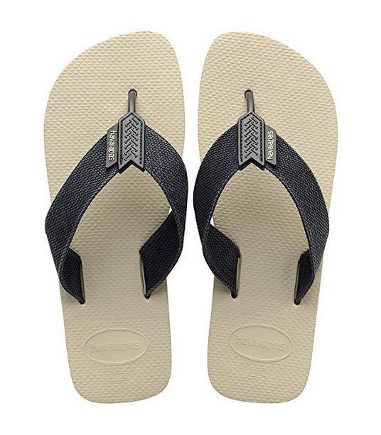 Havaianas Mens Urban Basic Sandal Flip Flop Size 6/7 - Beige/Black - 4132002-9446-37/38
