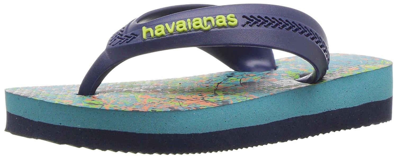 Havaianas Boys Kids Max Trend Sandal Flip Flop - Blue/Navy Blue - 25/26 BR