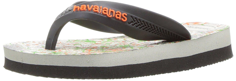 Havaianas Boys Max Trend Sandal Flip Flop - White/Grey - 27/28 BR