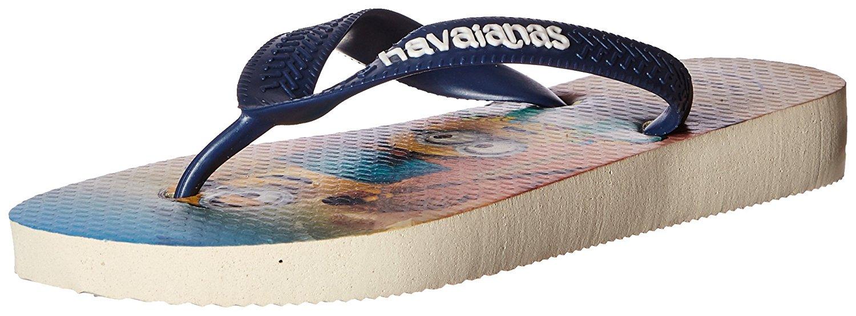 Havaianas Kids Minions Sandal Flip Flop - Beige/Navy Blue - 23/24 BR - 4133126-8009-9C