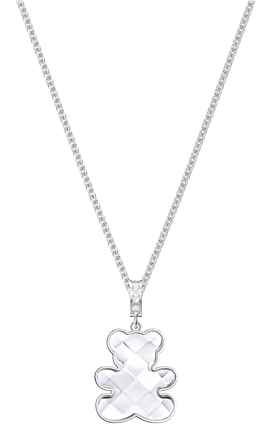Swarovski Teddy Pendant - White - Rhodium Plating - 5410280
