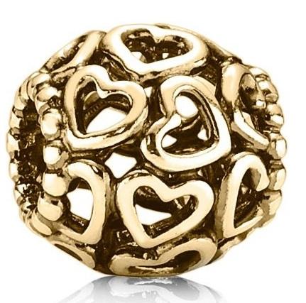 PANDORA Open Your Heart Charm - 14K Gold - 750964