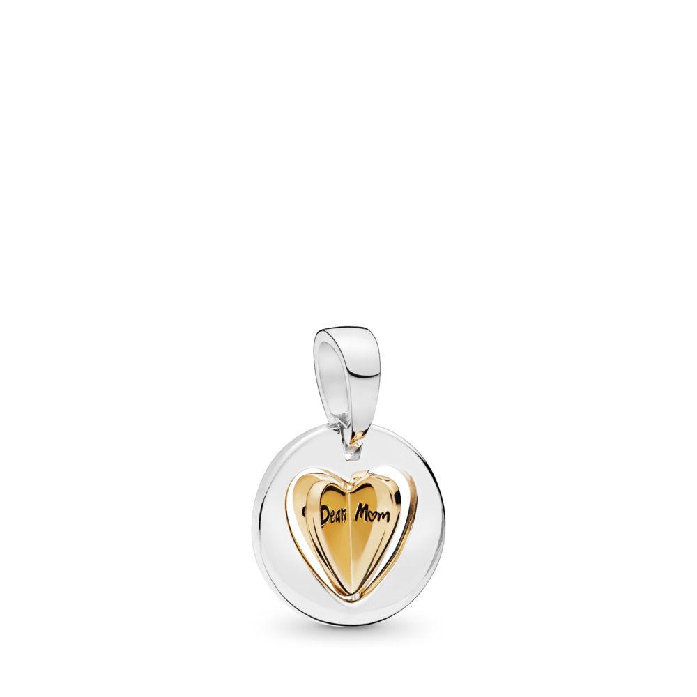 PANDORA Moms Golden Heart 18k Gold Plated PANDORA Shine Charm - 767774