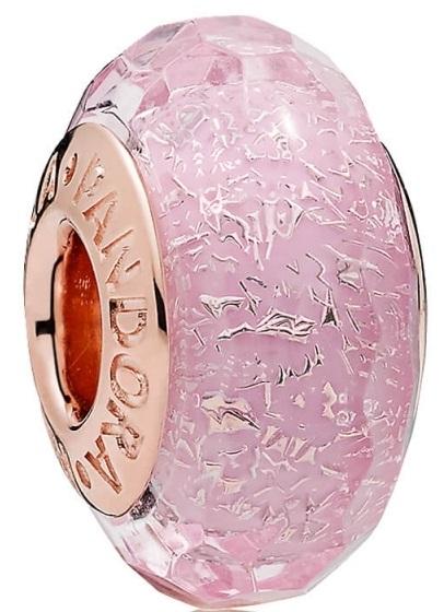 PANDORA Pink Shimmering Murano Glass Charm - 781650
