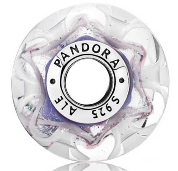 Pandora Field of Flowers Purple Murano Glass Charm - 791667