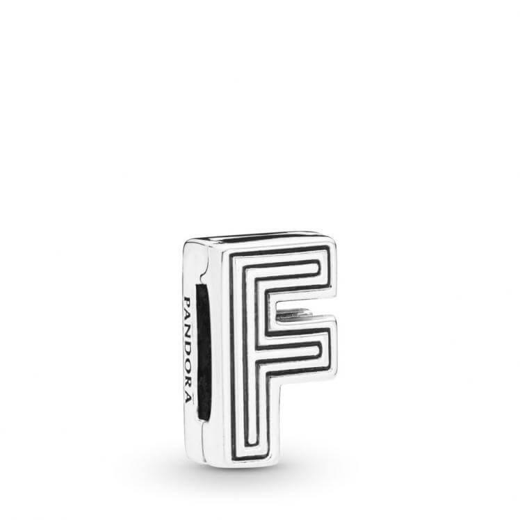 Pandora Reflexions Letter F Clip Charm - 798202