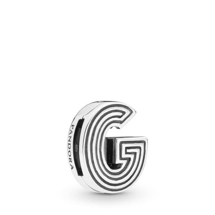 Pandora Reflexions Letter G Clip Charm - 798203