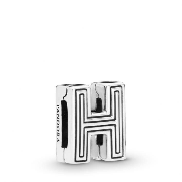 Pandora Reflexions Letter H Clip Charm - 798204