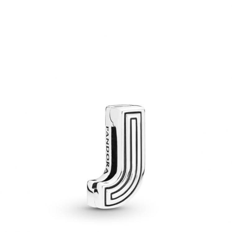 Pandora Reflexions Letter J Clip Charm - 798206