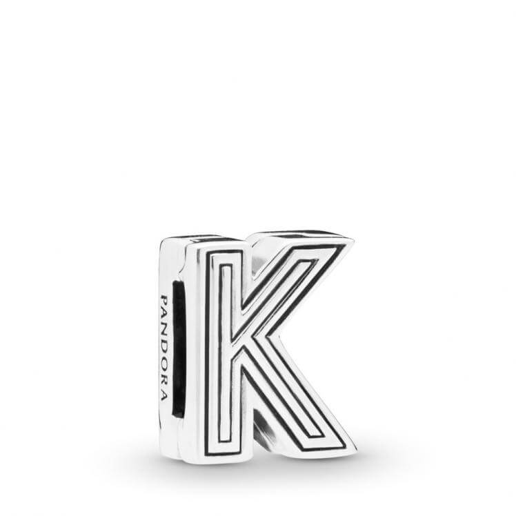 Pandora Reflexions Letter K Clip Charm - 798207