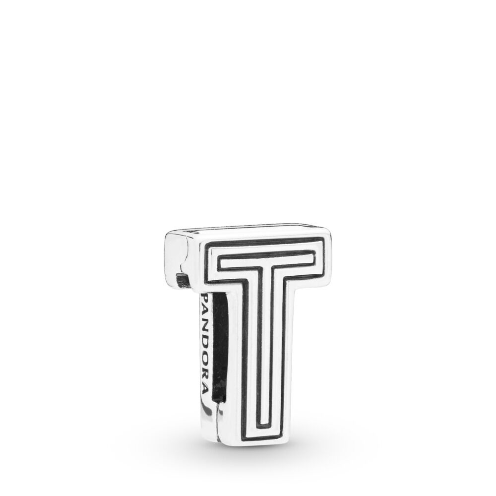 Pandora Reflexions Letter T Clip Charm - 798216