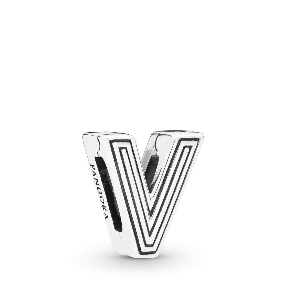 Pandora Reflexions Letter V Clip Charm - 798218