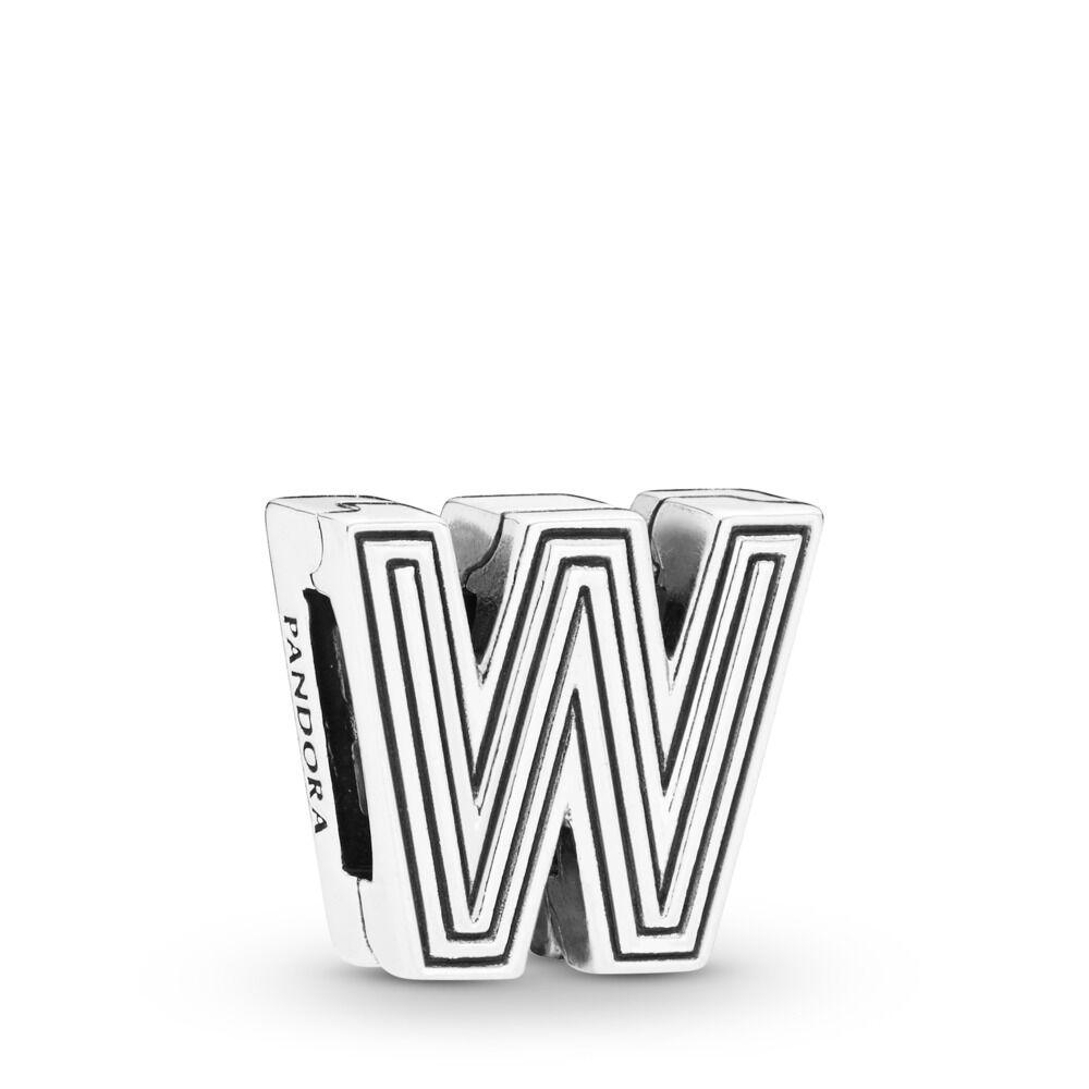 Pandora Reflexions Letter W Clip Charm - 798219