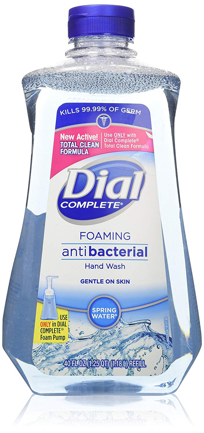 Dial Complete Spring Water Foaming Antibacterial Hand Wash Refill - 40 Oz