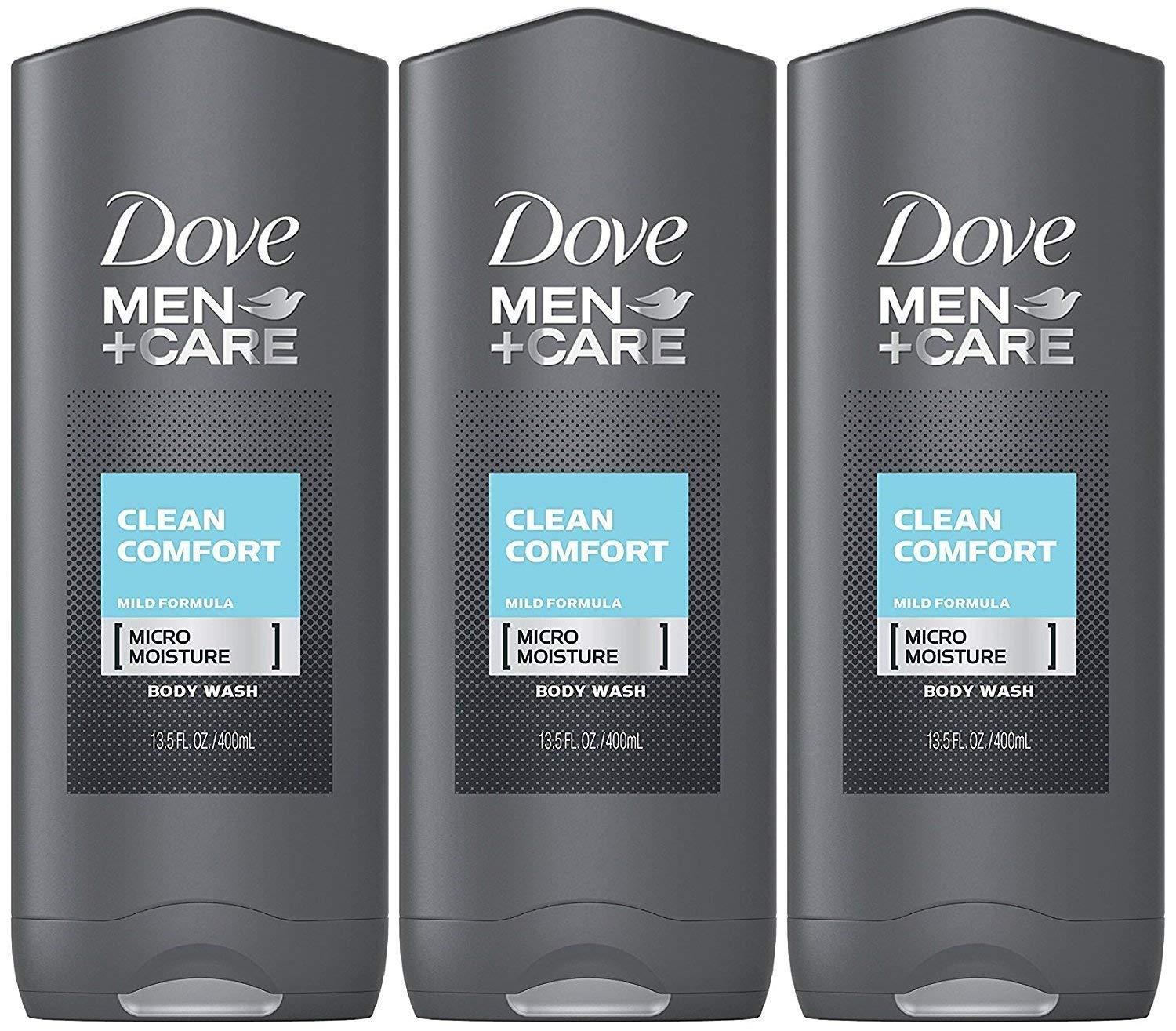 Dove Men Care Body & Face Wash Clean Comfort 13.50 oz Pack of 3