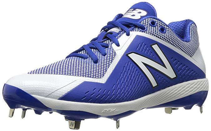 New Balance Mens 4040 V4 Metal Synthetic Baseball Cleats Royal/White - Size 10
