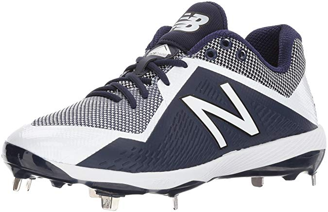 New Balance Mens 4040 V4 Metal Synthetic Baseball Cleats Navy/White - Size 10