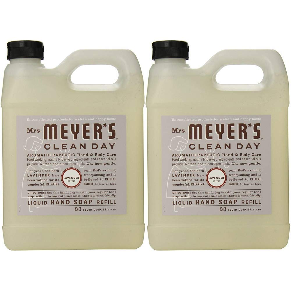 Mrs. Meyers Clean Day Hand Soap Refill - Lavender 33 oz (Pack Of 2)