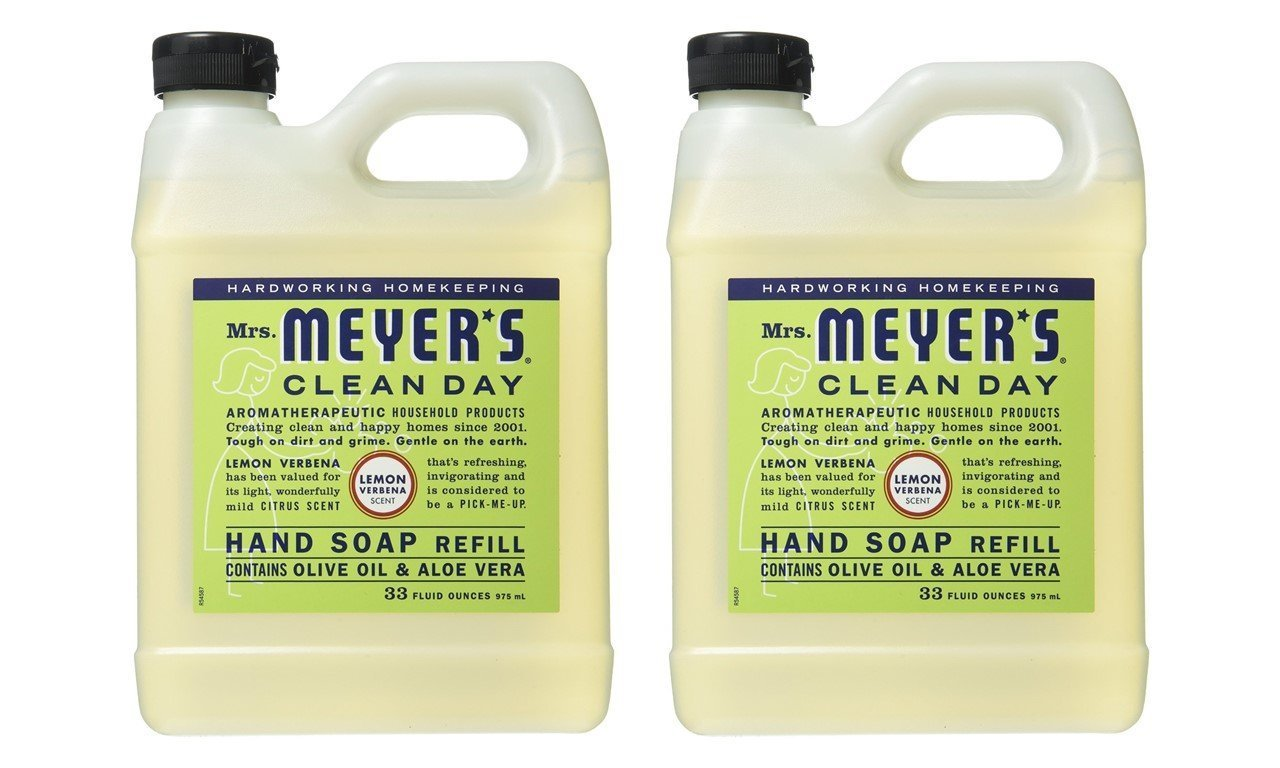 Mrs. Meyers Liquid Hand Soap Refill - 33 Oz - Lemon Verbena Scent - Pack Of 2