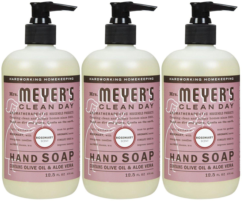 Mrs. Meyers Clean Day Liquid Hand Soap - Rosemary - 3pk - 12.5 oz