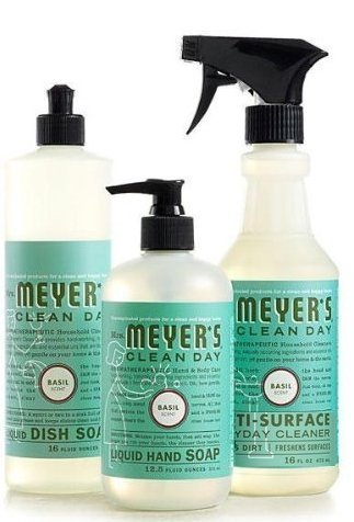 Mrs. Meyers Clean Day Basil Kitchen Basics Set