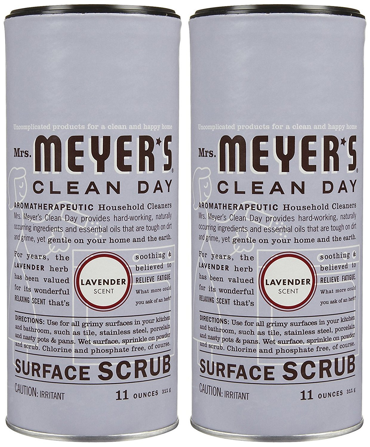 Mrs. Meyers Clean Day Surface Scrub - Lavender - 11 oz - 2 pk