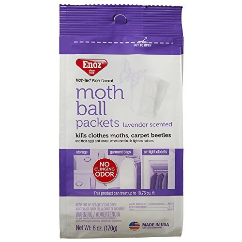 Enoz Moth Ball Packets - Lavender Scented - pack of 6