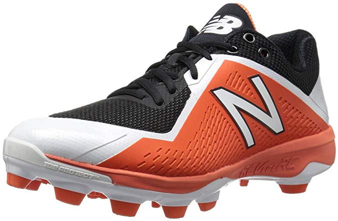 New Balance Mens Low Cut PL4040B4 TPU Black with Orange Molded Cleat - Size 10