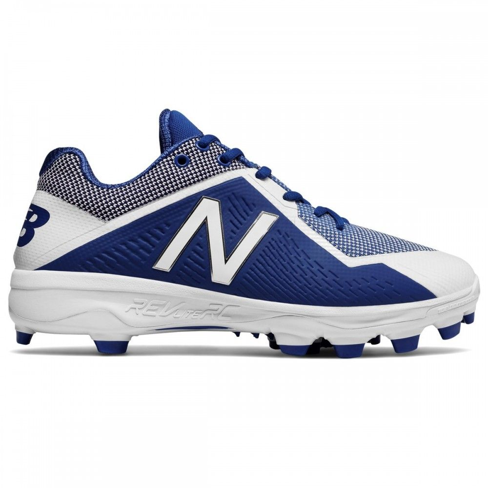 New Balance PL4040v4 Mens Low TPU Molded Cleats - Royal/White - Size 10