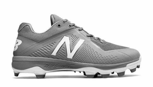 New Balance PL4040v4 Mens Low TPU Molded Cleats - Grey - Size 11.5