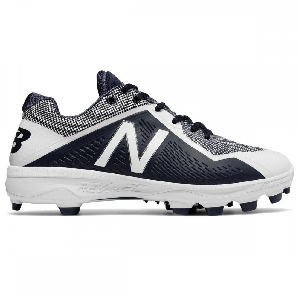 New Balance PL4040v4 Mens Low TPU Molded Cleats - Navy/White - Size 10.5