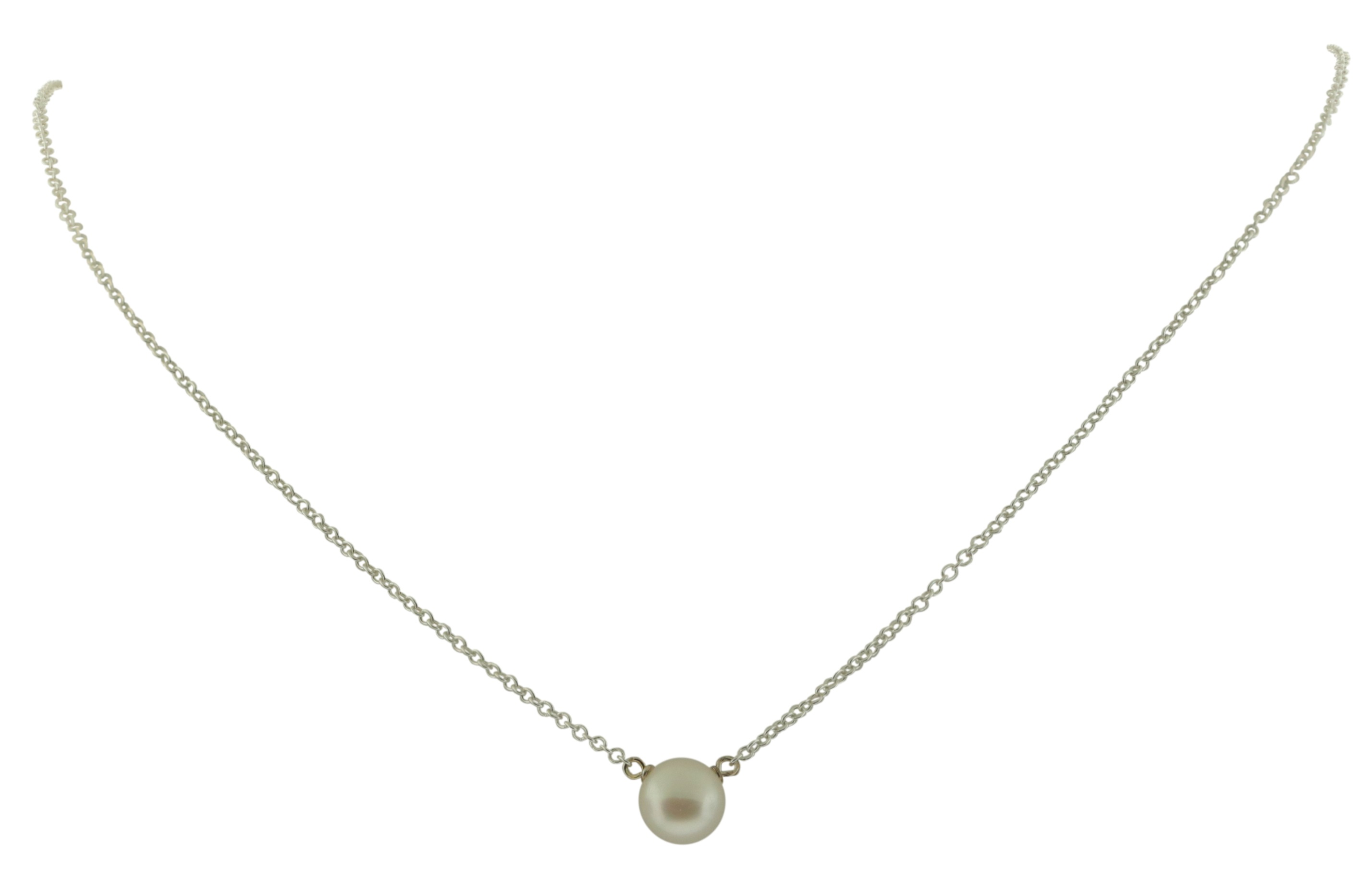 Dogeared Pearls of Wisdom White Pearl Sterling Silver Necklace - PS1021