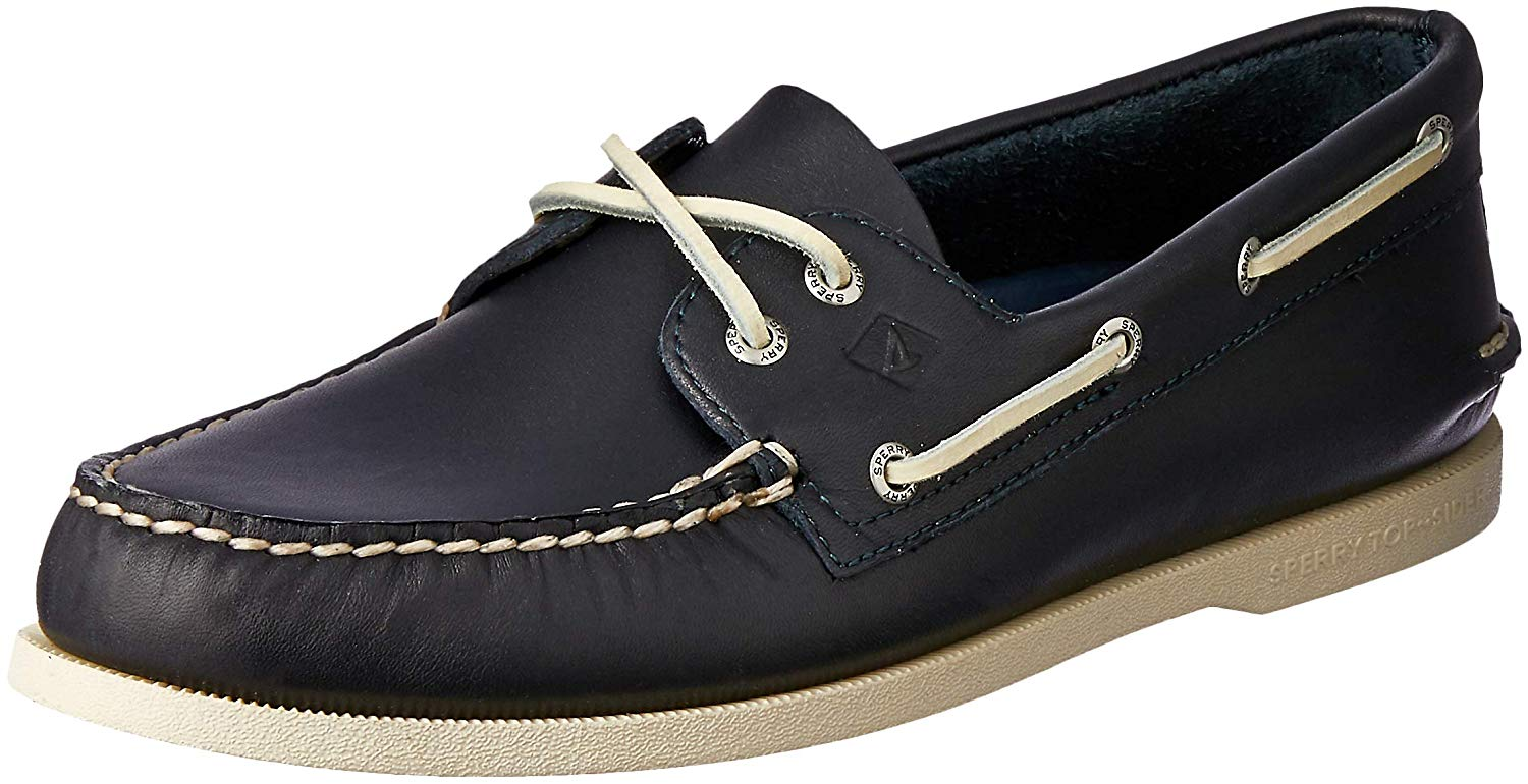 Sperry Mens Authentic Original 2-Eye Boat Shoe - Navy - Size 9.5